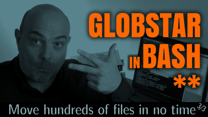 How to Move hundreds of Files in no Time ... using globstar (**)